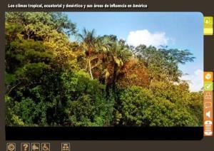 Los climas tropical, ecuatorial y desértico y sus áreas de influencia en América