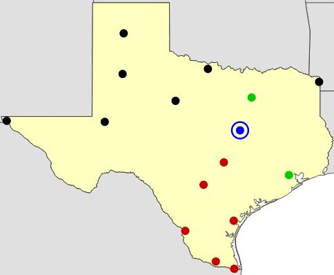 Texas cities map  (JetPunk)