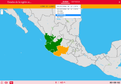 States of the region werstern of Mexico