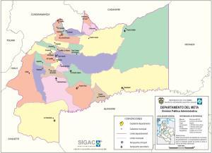 Mapa político de Meta (Colombia). IGAC