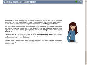 People are people: Hello!/¡Hola!