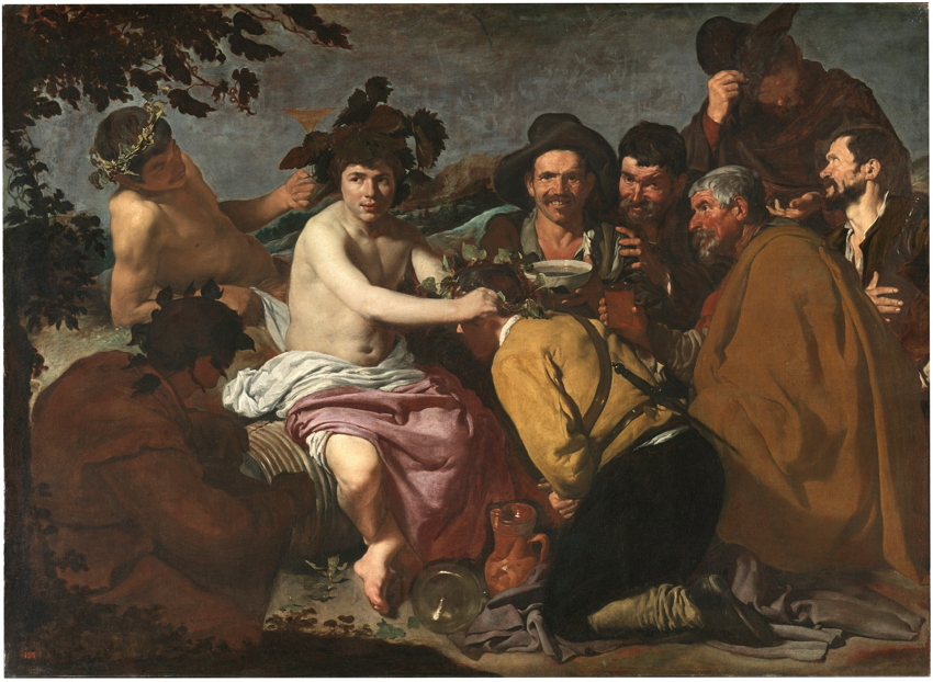 Los borrachos, o El triunfo de Baco, 1628-1629