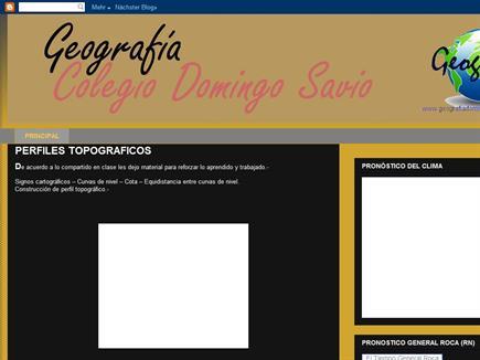 GEOGRAFÍA COLEGIO DOMINGO SAVIO