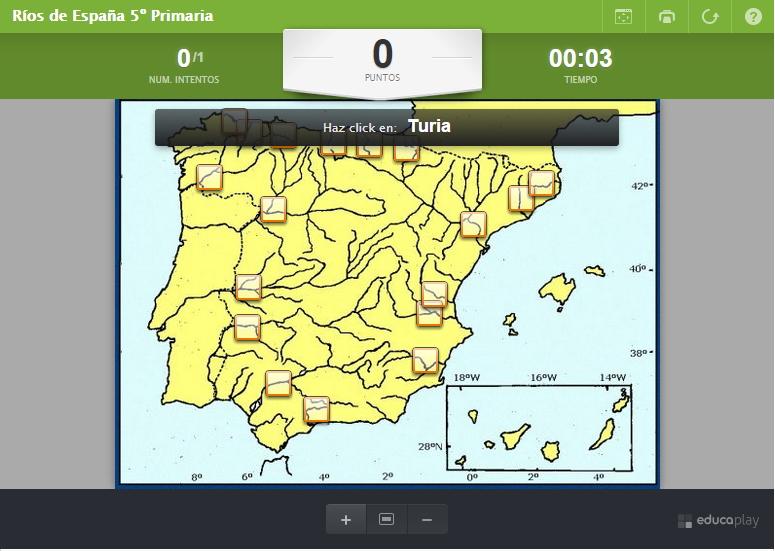 Mapa Rios España Interactivo.Mapa Interactivo De Espana Rios De Espana Educaplay Mapas