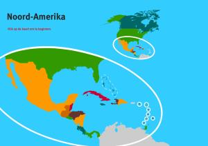 Landen van Noord-Amerika. Topo Wereld