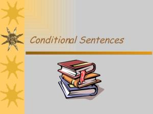 Conditional sentences in English
