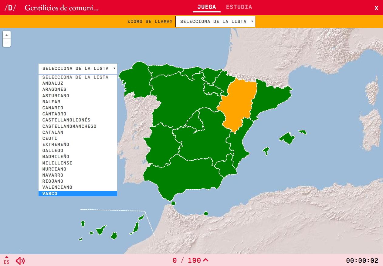 Gentilicios de comunidades autónomas de España