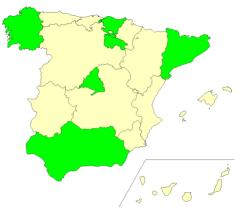 Autonomous communities of Spain  (JetPunk)