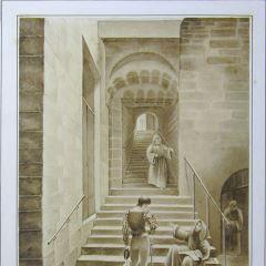 Carlos V visitando el Convento de Yuste, Extremadura (España)