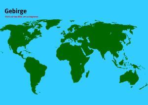 Gebirge der Welt. Welt-Quiz Geographie