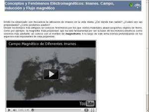 Conceptos y Fenómenos Eléctromagnéticos: Imanes. Campo, Inducción y Flujo magnético