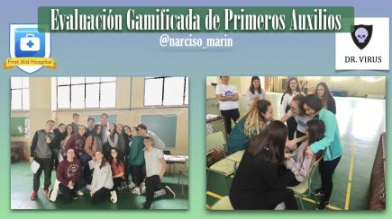 Evaluación gamificada de Primeros Auxilios en Educación Física bilingüe