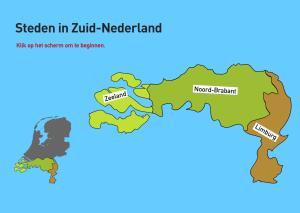 Steden in Zuid-Nederland. Topografie van Nederland