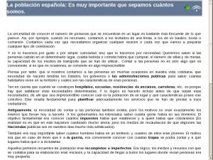La población española: Es muy importante que sepamos cuántos somos