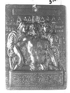 Cristo muerto entre la Virgen y San Juan