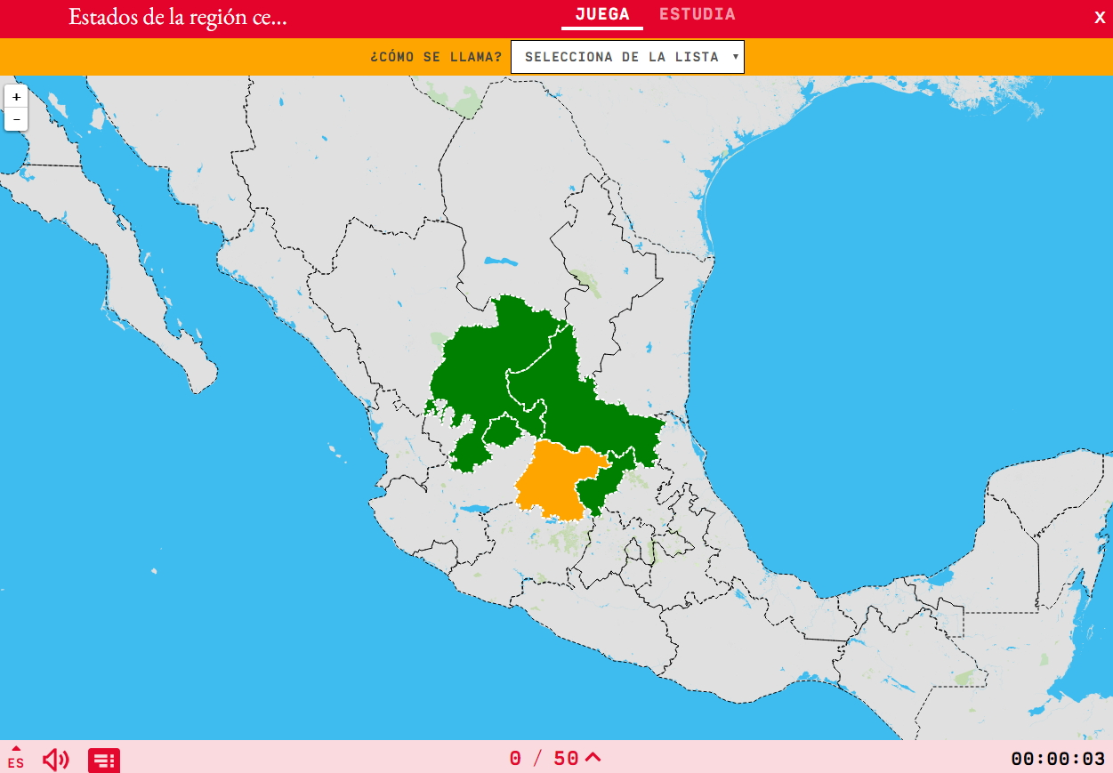 States of the region north-central of Mexico