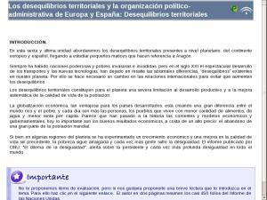 Los desequilibrios territoriales y la organización político-administrativa de Europa y España: Desequilibrios territoriales