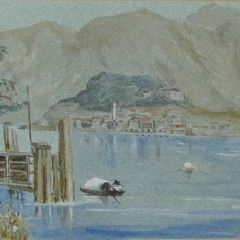 Vista del lago de Como (Italia)