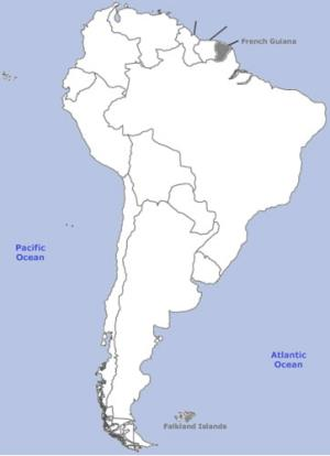 Countries of South America. Sporcle