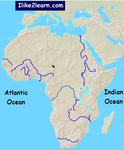 Map Of Africa Bodies Of Water.African Bodies Of Water Bodies Of Water Of Africa Ilike2learn