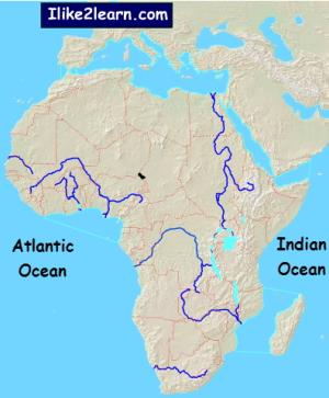 Bodies of water of Africa. Ilike2learn