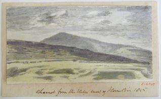 Vista del monte Cheviot desde Homilden, Northumberland (Inglaterra)