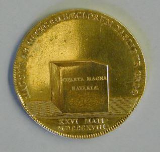 Moneda conmemorativa de la Constitución del  Reino de Baviera