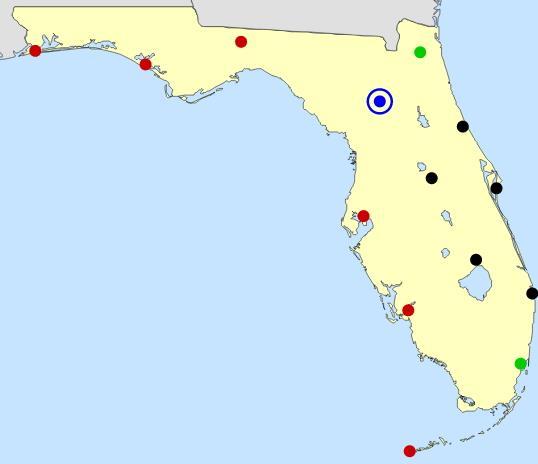 Florida cities map  (JetPunk)