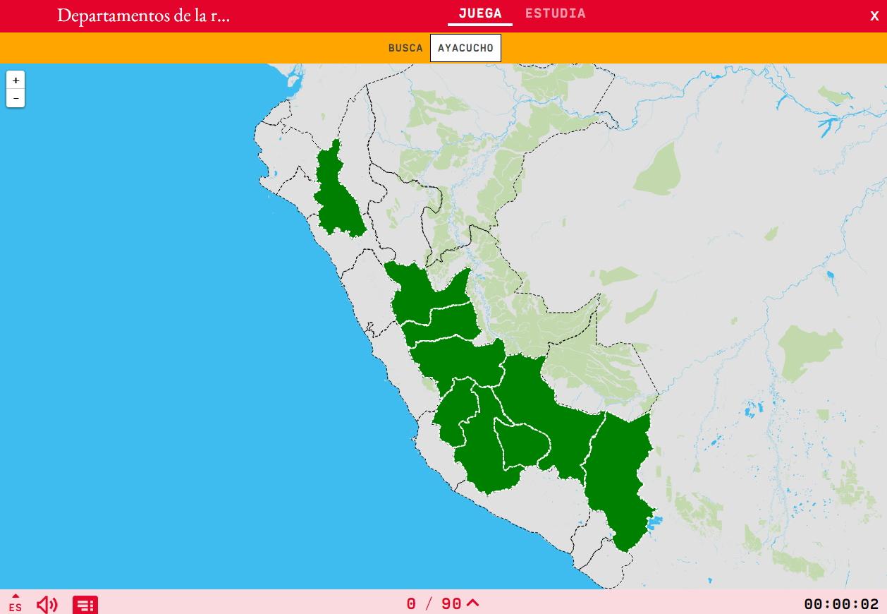 Departamentos da rexión montañosa do Perú
