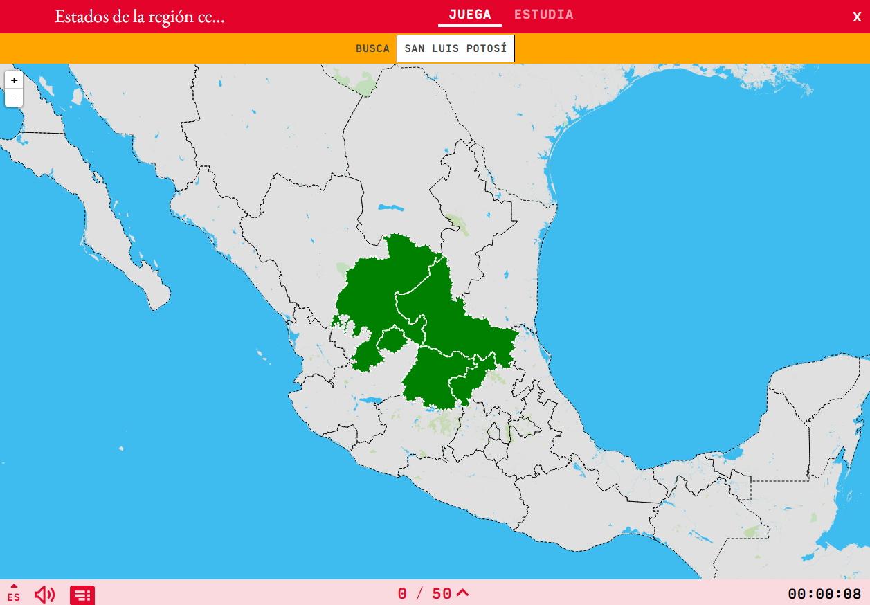 Staaten der mittelnorden von Mexico