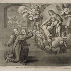 Aparición de la Virgen a San Nilo y a San Bartolomé