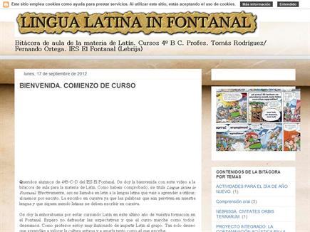 Lingua latina in Fontanal