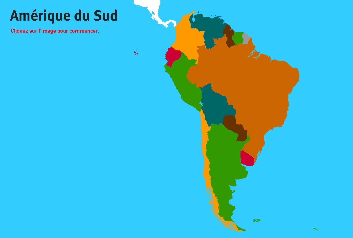 Pays d'Amérique du Sud. Jeux de Géographie