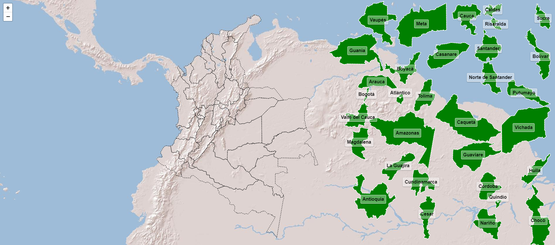 Départements de la Colombie