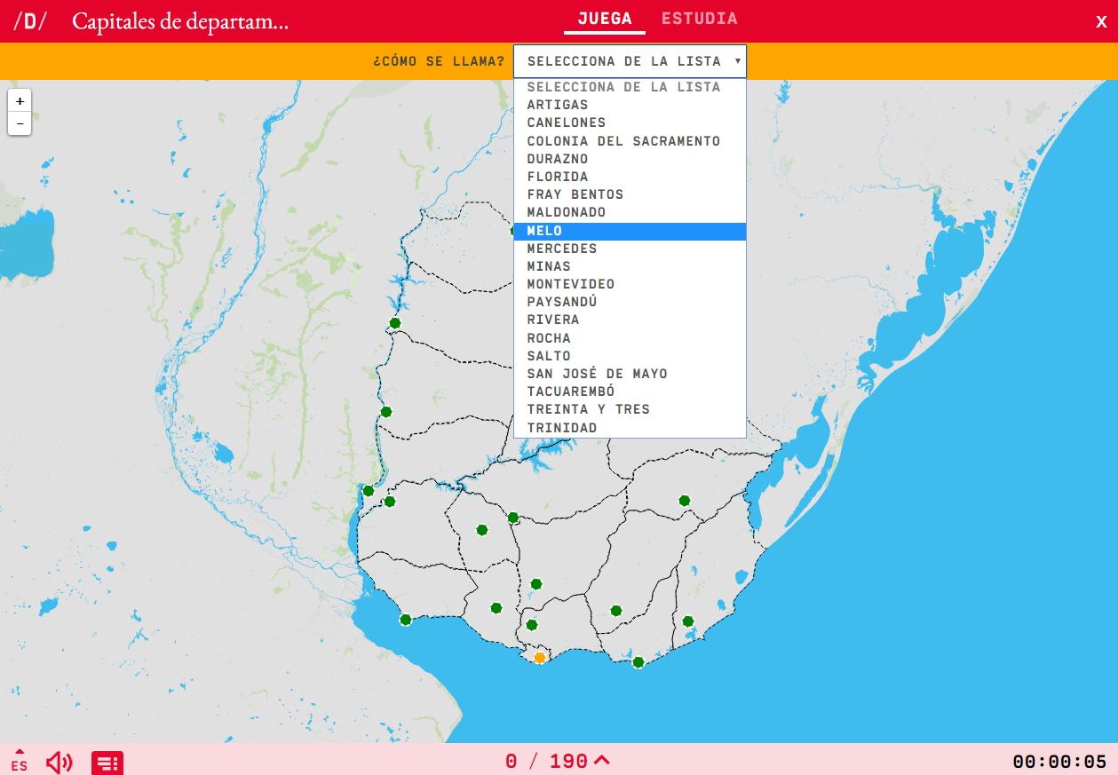 Uruguai-etako departamentu kapitalak