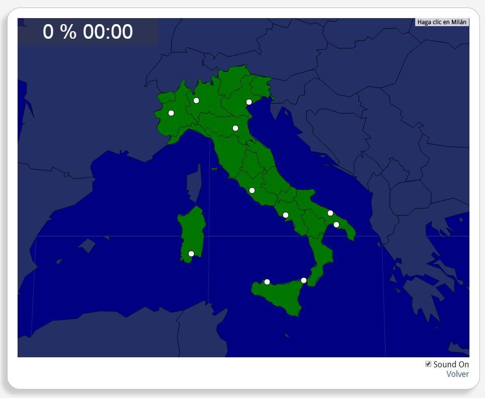 Italie : les villes. Seterra