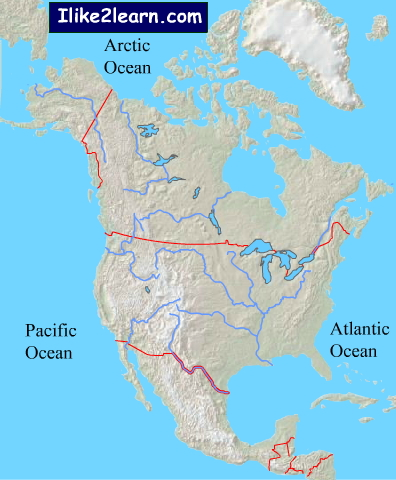 Rivers of North America. Ilike2learn