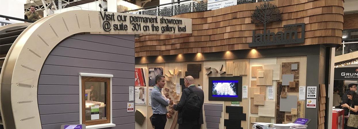 Estamos presentes en el stand de James Latham en Surface Design Show 2017
