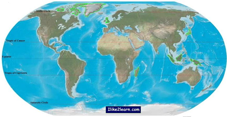 Biggest islands in the world (easy). Ilike2learn