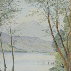 Lago en Gales