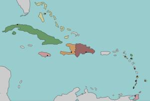 Capital cities of the Caribbean. Lizard Point