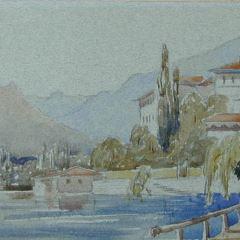 Vista de Tremezzo, lago de Como (Italia)