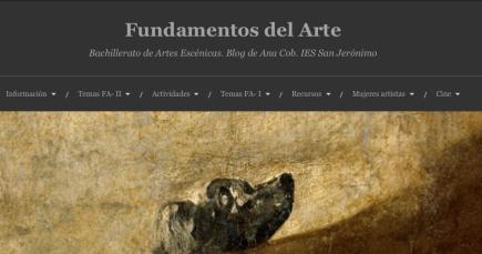 Fundamentos del Arte. Bachillerato de Artes Escénicas. IES San Jerónimo