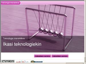 Teknologia interaktiboa - Ikasi teknologiekin