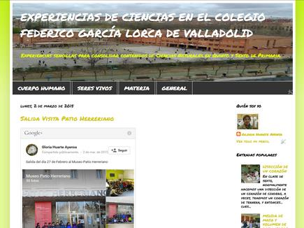 EXPERIENCIAS DE CIENCIAS EN EL COLEGIO FEDERICO GARCÍA LORCA DE VALLADOLID