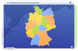 Länder d'Allemagne. Jeux géographiques