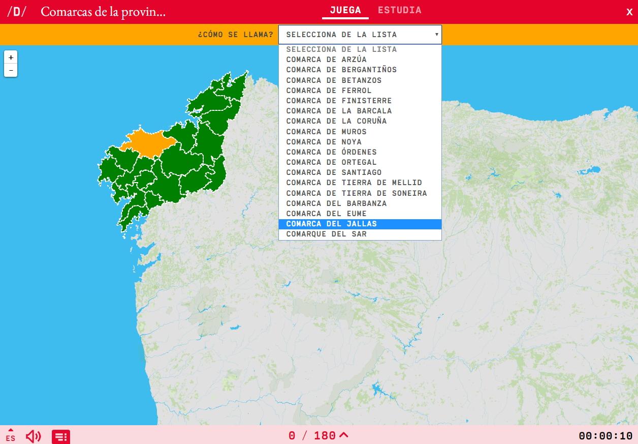Comarcas de la provincia de La Coruña
