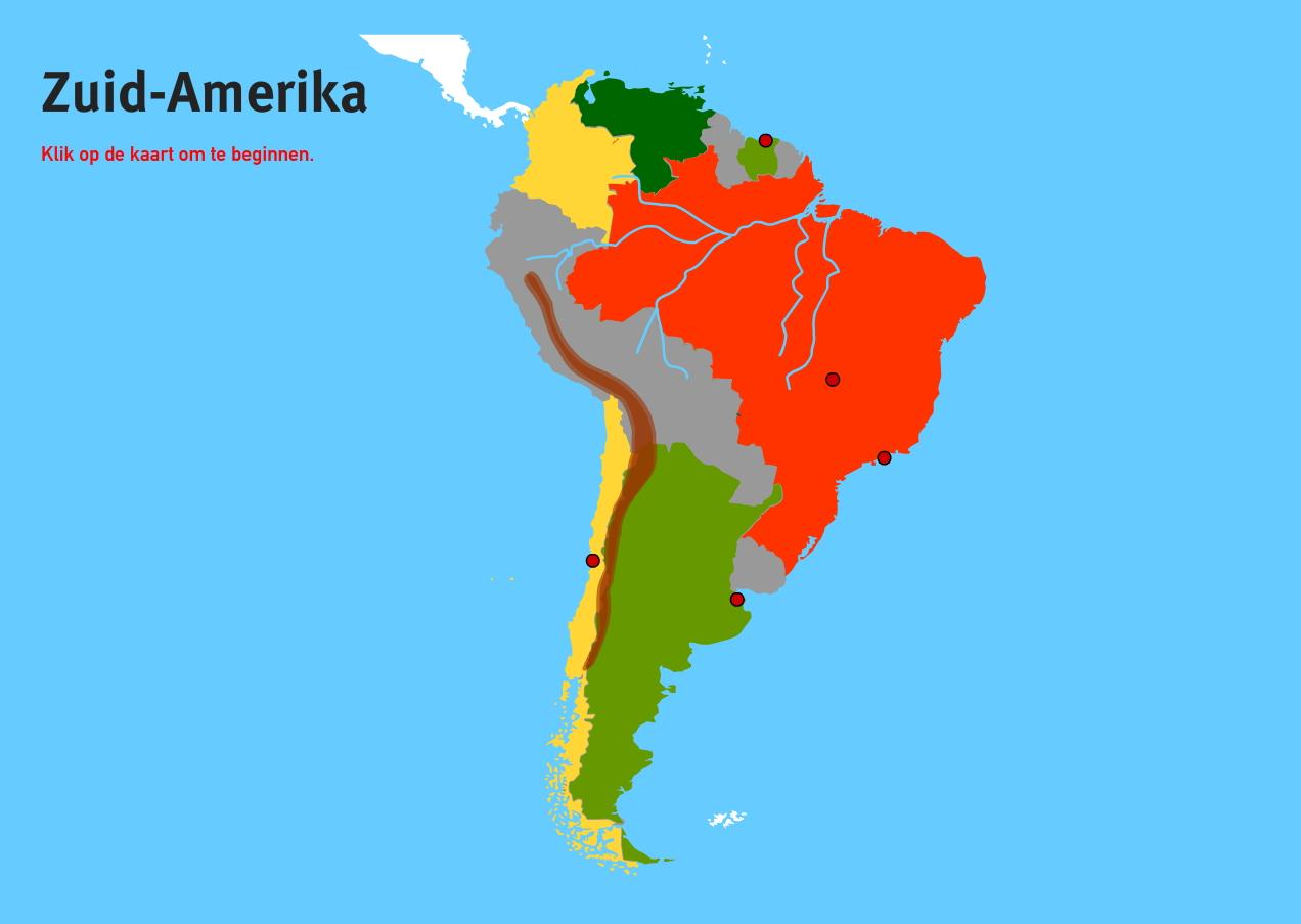 Zuid-Amerika. Topo VMBO