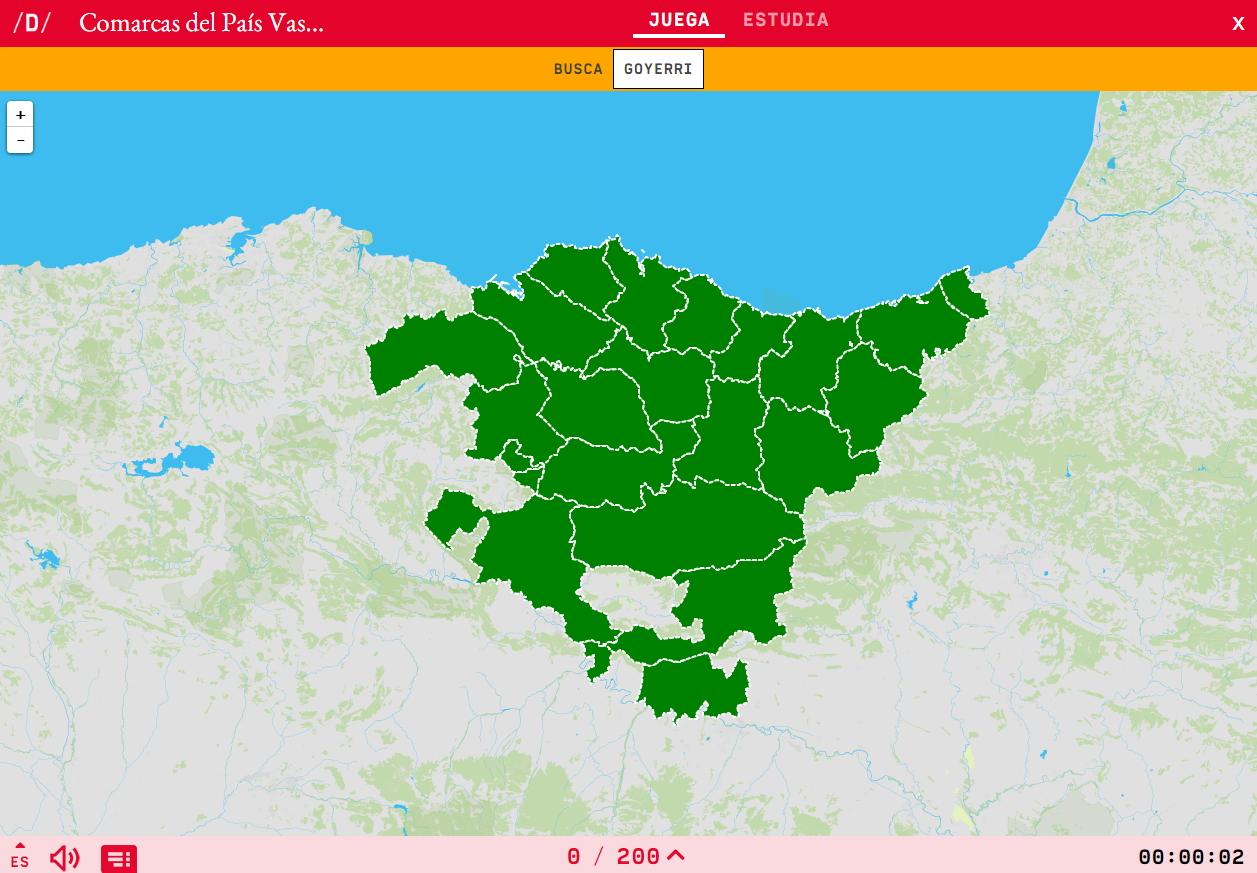 Rexións de Euskadi