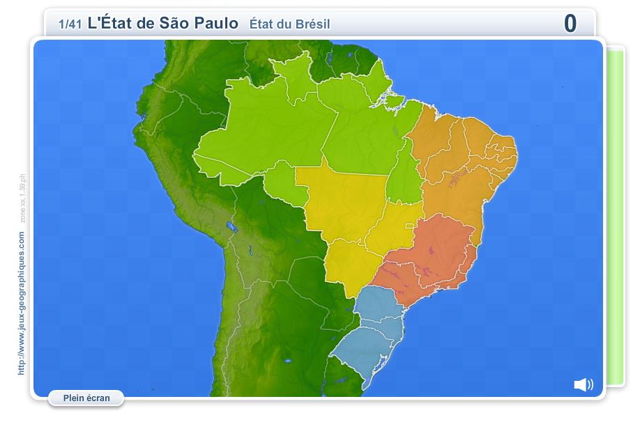 Le Brésil 2014. Jeux géographiques